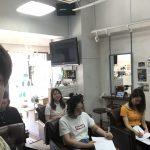朝から美容師のカウンセリングの勉強会
